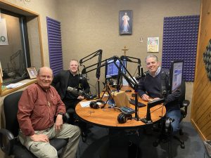 With Fr. Chris Alar & Drew Mariani at Relevant Radio