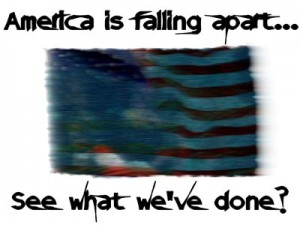 is america falling apart essay outline